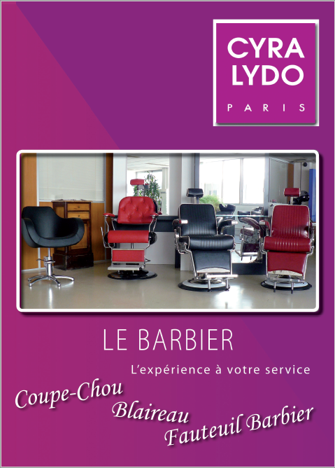 couverture du catalogue barbier de Cyra Lydo